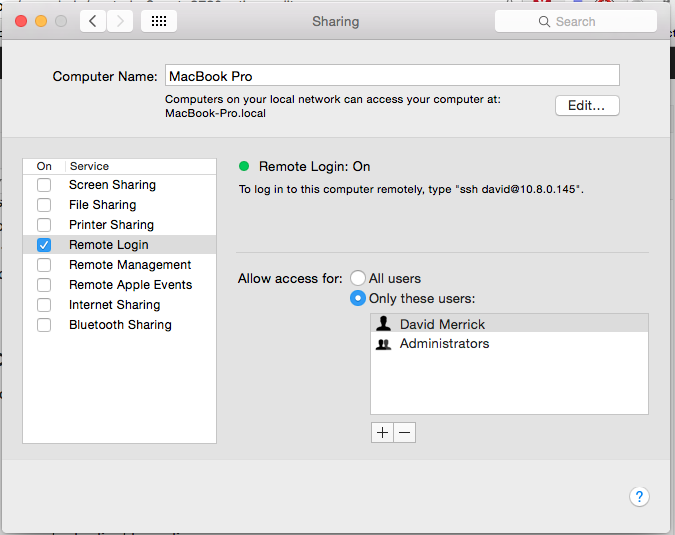 Creating an ad hoc VPN on OSX using reverse SSH tunneling